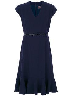 платье с V-образным вырезом Porta Max Mara
