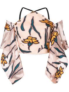 блузка с цветочной вышивкой  Roland Mouret
