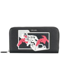 кошелек с графическим принтом Prada