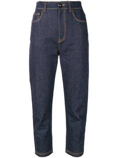 укороченные джинсы прямого кроя Fendi