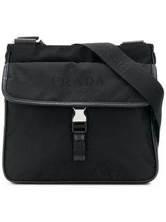 сумка-мессенджер с принтом логотипа Prada