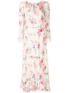 платье с цветочным принтом и оборками Vilshenko