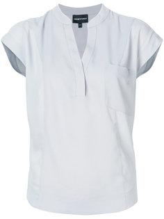 mandarin-collar blouse Emporio Armani