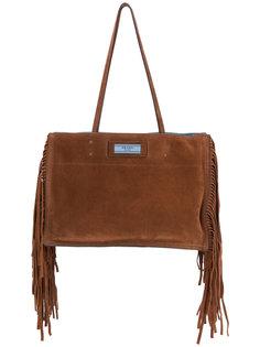 сумка-шоппер Etiquette с бахромой Prada
