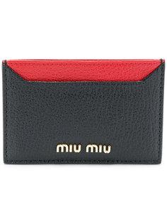 двухцветная визитница Miu Miu