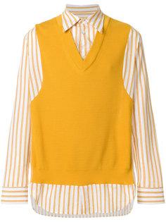 рубашка в полоску с жилеткой Maison Margiela