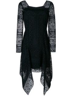 кружевное платье с расклешенным подолом Alberta Ferretti