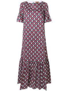 расклешенное платье  с абстрактным узором Fay