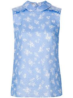 блузка с цветочным принтом Miu Miu