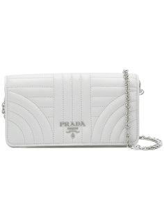 стеганая сумка на плечо с логотипом Prada