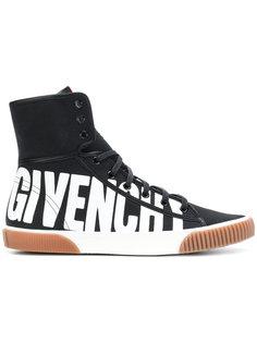 хайтопы с принтом-логотипом  Givenchy