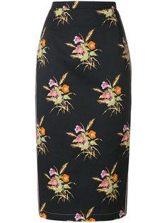 юбка-карандаш с цветочным принтом Nº21