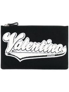 Valentino Garavani logo patch clutch Valentino