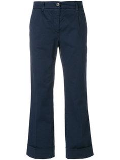 укороченные брюки с отворотами  Fay