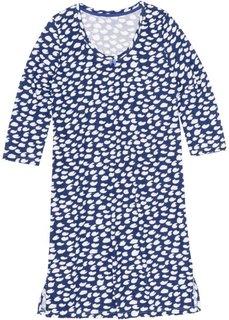 Ночная рубашка (сапфирно-синий/белый с узором) Bonprix