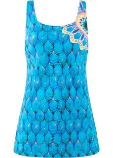 Платье купальное, формирующее (синий с рисунком) Bonprix