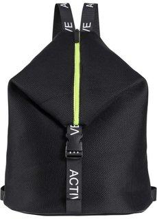 Рюкзак спортивный (черный) Bonprix