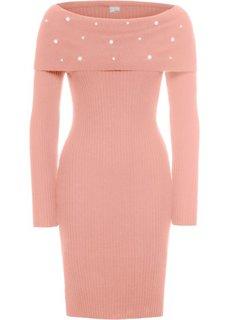 Платье с аппликацией из бусин (ярко-розовый) Bonprix