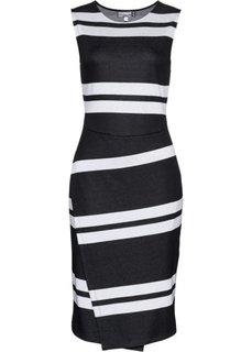 Платье (черный/светло-серый в полоску) Bonprix