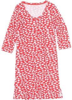 Ночная рубашка (омаровый/белый с узором) Bonprix
