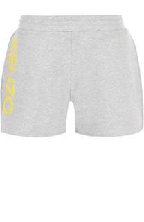 Хлопковые мини-шорты с логотипом бренда Kenzo