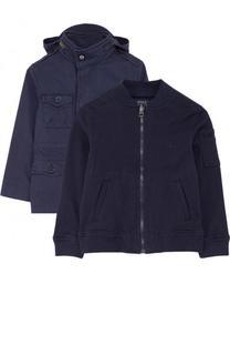 Текстильная куртка с капюшоном и подстежкой Polo Ralph Lauren