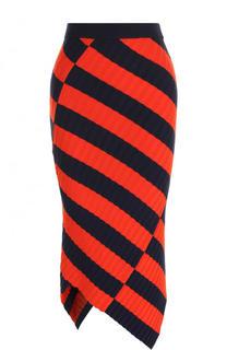 Вязаная юбка-карандаш асимметричного кроя Altuzarra