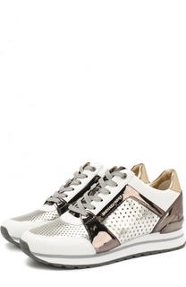 Комбинированные кроссовки Billie на шнуровке MICHAEL Michael Kors