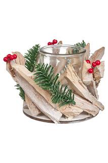 "Подсвечник ""Кантри натурале"" DUE ESSE CHRISTMAS"