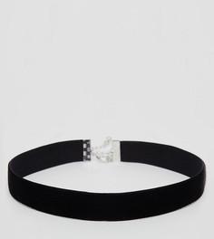 Классическое бархатное ожерелье-чокер ASOS CURVE - Черный