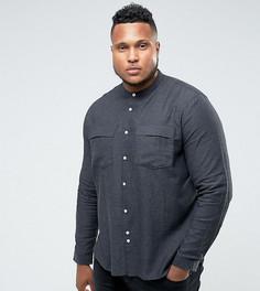 Рубашка с карманами и воротником на пуговице Bellfield PLUS - Серый