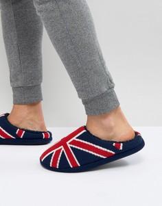 Слиперы с британским флагом Dunlop - Синий