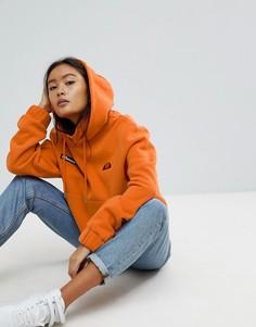 Oversize-худи с логотипом Ellesse - Оранжевый