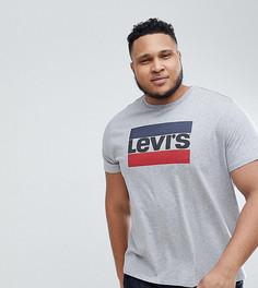 Серая футболка с логотипом Levis PLUS Sportswear - Серый