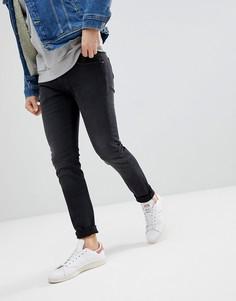 Черные выбеленные джинсы скинни Lee Luke - Черный