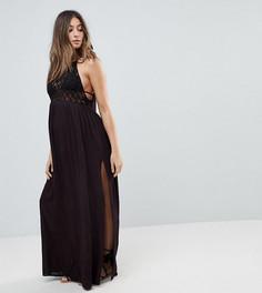 Пляжное платье макси с ажурной вставкой ASOS Maternity Premium - Черный