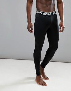 Спортивные леггинсы с логотипом на поясе Bjorn Borg - Черный