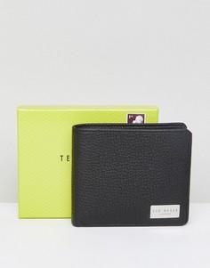 Кожаный бумажник с карманом для монет Ted Baker - Черный