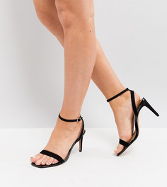 Босоножки на каблуке для широкой стопы ASOS HALF TIME - Черный