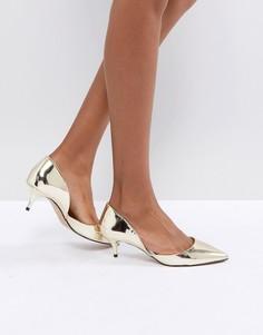 Золотистые туфли на каблуке-рюмочке с острым носом ALDO Adylia - Золотой