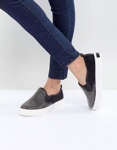 Кроссовки-слипоны с заклепками ALDO Jille - Черный