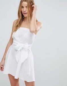 Пляжное платье-бандо с бантом спереди ASOS - Белый