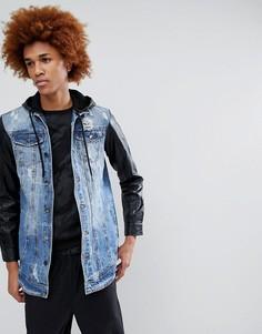 Джинсовая куртка с полиуретановыми рукавами Criminal Damage - Синий