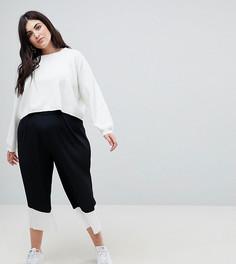 Черно-белая юбка-брюки ASOS CURVE - Черный
