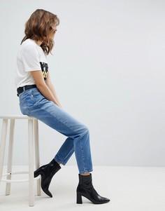 Джинсы в винтажном стиле с завышенной талией Selected - Синий