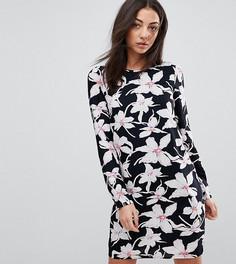 Платье с винтажным цветочным принтом Vero Moda Tall - Мульти