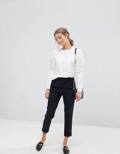 Строгие укороченные брюки Esprit - Черный