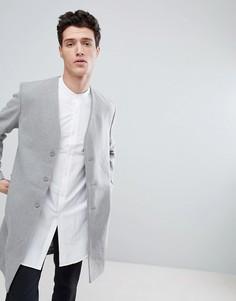 Пальто без воротника Native Youth - Серый