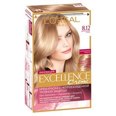 Крем-краска для волос `LOREAL` `EXCELLENCE` BLONDE LEGEND тон 8.12 (мистический блонд)