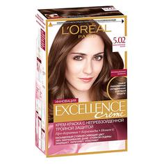 Крем-краска для волос `LOREAL` `EXCELLENCE` тон 5.02 (Обольстительный каштан)